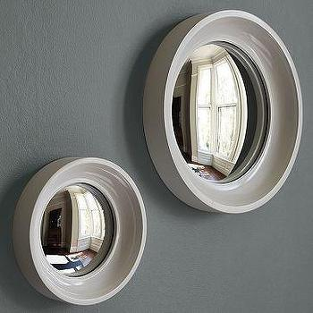 Mirrors - Convex Mirrors | west elm - white, convex, mirrors