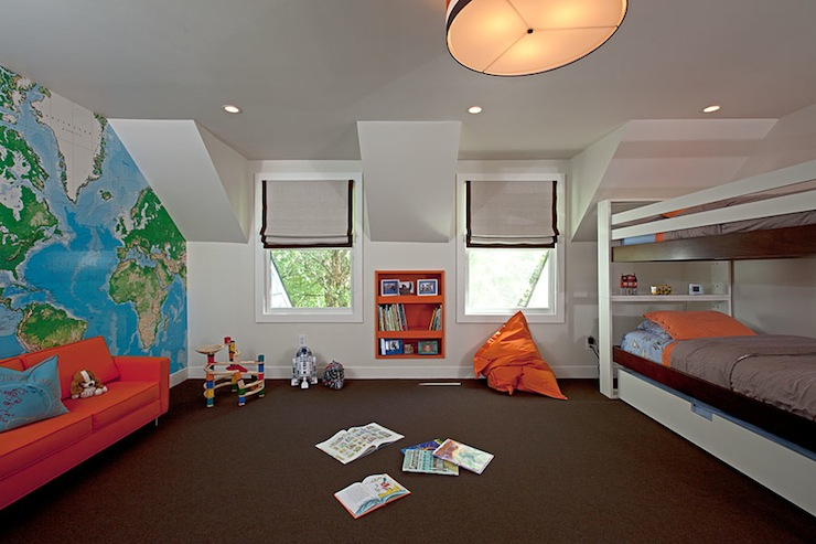 Boys bunk beds contemporary boy 39 s room melanie for Bedroom ideas for 11 year old boy