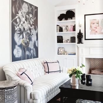 Striped Sofa, Contemporary, living room, Windsor Smith Home