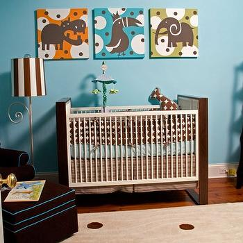 Two Tone Crib, Contemporary, nursery, Summer House Style