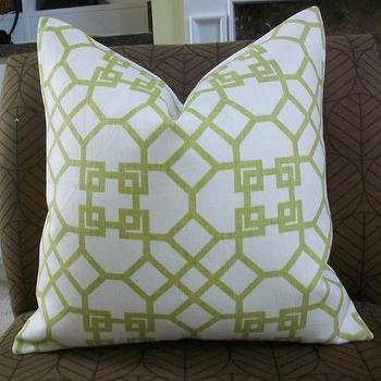 Pillows - NEW DECORATIVE DESIGNER PILLOW COVER 18X18 by elegantouch - windsor smith, pelagos, lime, pillow