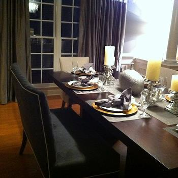 Dining Bench, Contemporary, dining room
