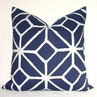 Pillows - Beautiful Decorative Pillow Cover Trina Turk by kyoozi on Etsy - blue, trina turk, trellis, pillow