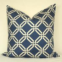 Pillows - Decorative Pillow Cover Geometric Lattice 20x20 inch by kyoozi - blue, gemotric, chains, pillow