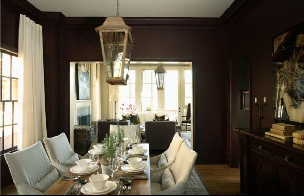 Dining Rooms Brown Walls | FURNITURE