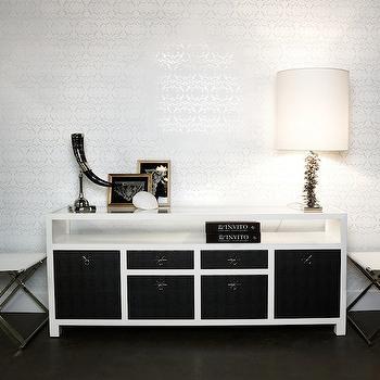Nest Interior Design - entrances/foyers - black and white cabinet, black and white sideboard, sideboard, two tone cabinets, two tone sideboard,
