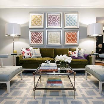 navy zebra rug contemporary living room jonathan adler