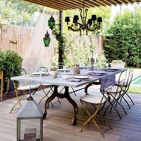 porches - outdoor dining, porch, deck, patio pergola, deck pergola, trestle dining table, outdoor trestle dining table,  Pretty outside dining