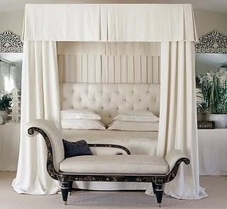 Mary McDonald - bedrooms - mary mcdonald, canopy bed, canopied bed, bed canopy, bed curtains, bed drapes, bed panels, chinoiserie bench,  Deeply