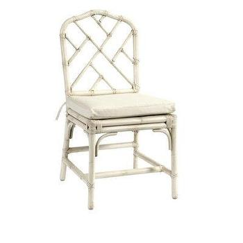 Seating - Ballard Designs Macau Chair - white, ivory, faux bamboo, chair