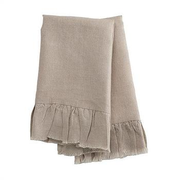 Decor/Accessories - Natural Linen Hand Towels | Kitchen - Tea Towls | Wisteria - ruffled, linen, towels