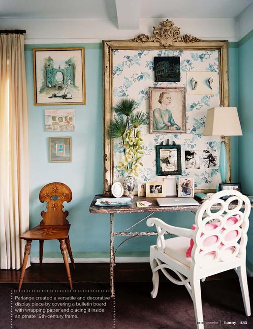 Lonny Magazine - dens/libraries/offices - Benjamin Moore - Dolphins Cove - turquoise blue walls, turquoise walls, turquoise paint colors, turquoise blue paint colors,