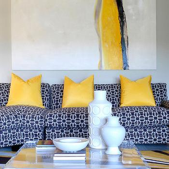 Yellow and Blue Living Room, Contemporary, living room, Tobi Fairley