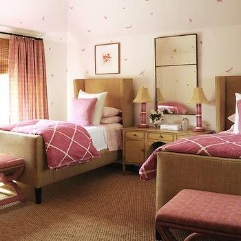 Lattice Bedding, Contemporary, girl's room, Phoebe Howard