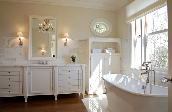 Cream Wall Paint - Transitional - bathroom - Farrow & Ball Slipper ...