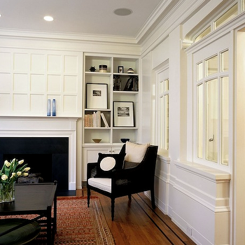 Fireplace Millwork, Contemporary, living room, Buttrick Wong Architects