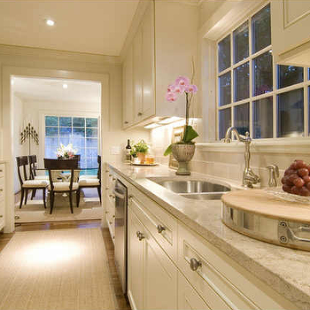 White Galley KItchen, Transitional, kitchen, Cote de Texas
