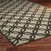 Rugs - Wedding Rings Tufted Trellis Rug 2 Colors - Shades of Light - wedding rings, tufted, trellis, rug