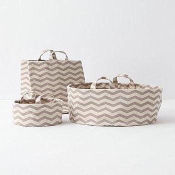 Decor/Accessories - Mountain Peaks Bath Basket, Mini-Anthropologie.com - zigzag, herringbone, baskets
