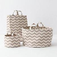 Decor/Accessories - Mountain Peaks Bath Basket, Mini - Anthropologie.com - zigzag, herringbone, baskets
