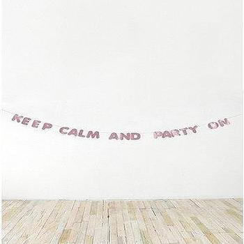 Decor/Accessories - UrbanOutfitters.com > Keep Calm Party Banner - keep calm and party on banner