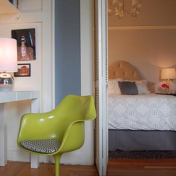 Blue Gray Walls, Contemporary, bedroom, Benjamin Moore Deep Silver, Niche Interiors