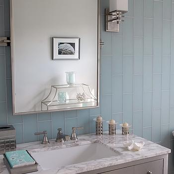Gray and BLue Bathroom Ideas, Contemporary, bathroom, Mabley Handler