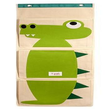 Decor/Accessories - Modern Eco-friendly Wall Organizers - 3 Sprouts Croccodile Organizer - crocodile, wall, organizer