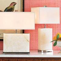 Lighting - Williams-Sonoma Home | Alabaster Block Lamp, Wide Lamp - alabaster, lamp
