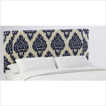 Beds/Headboards - Skyline Furniture Slipcover Headboard in Diamonds Blue | Bedroom Furniture.com - headboard