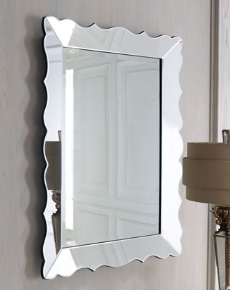 Horchow wave scalloped mirror look 4 less for Decorative mirrors for less
