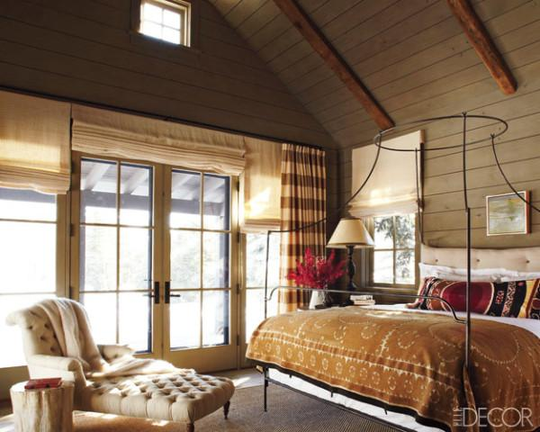 Suzani Blanket Country Bedroom Elle Decor