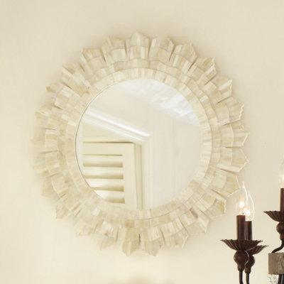 Bone Sunburst Mirror Ballard Designs