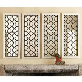 Mirrors - Set of 2 Constance Mirrors - Ballard Designs - moroccan tiles, mirror