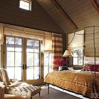 Elle Decor - bedrooms - suzani blanket, iron canopy bed, anthropologie bed, anthropologie canopy bed,  December 2010