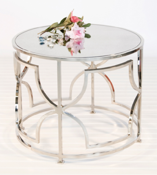 Mykonos Mirrored Side Table Look 4 Less