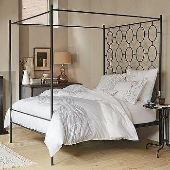 Ellipse Metal Canopy Bed, west elm