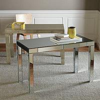Storage Furniture - Parsons Desk with Drawers | west elm - mirrored, parsons, desk