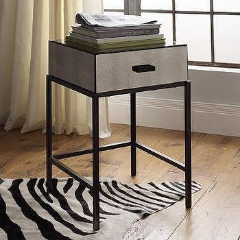 Storage Furniture - Foxed Mirror Nightstand | west elm - mirrored, nightstand