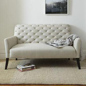 Seating - Elton Settee | west elm - tufted, settee