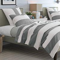Bedding - Stripe Duvet Cover + Shams | west elm - gray, stripe, duvet