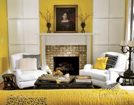 Yellow and black living room transitional living room - Black and yellow living room ...