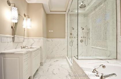 Jonathan Adler Parker Sconce Transitional Bathroom