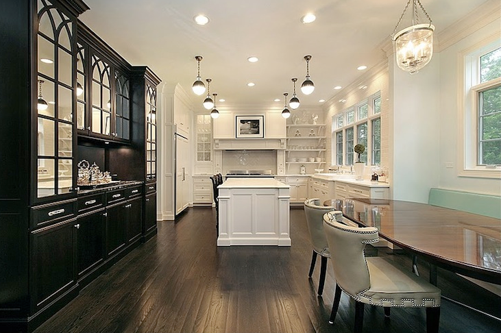 Black and White Kitchen, Transitional, kitchen, Oxford Development