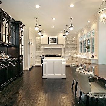 Black and White Kitchen, Transitional, kitchen, Oxford Development