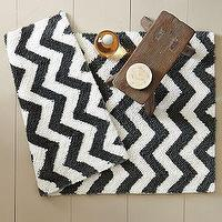 Bath - Tribal Bath Mat | west elm - herringbone, bath mat
