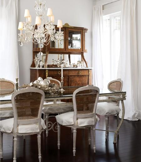 French dining table french dining room house home for Dining room in french