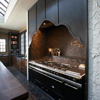 Herringbone Backsplash, Mediterranean, kitchen, Tracery Interiors