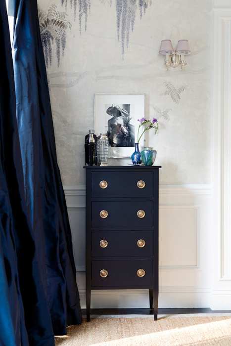 Navy Blue Curtains Traditional Living Room Windsor