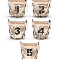 Decor/Accessories - Industrial Wire Basket with Number Liners 1, 2, 3, 4 and 5 - industrial, wire, baskets